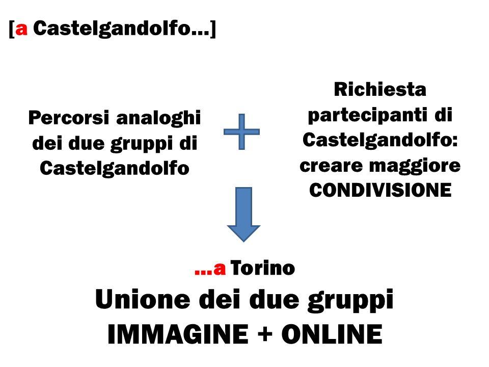 Unione dei due gruppi IMMAGINE + ONLINE [a Castelgandolfo…] …a Torino